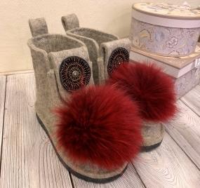 Валеши 3/4 Wool рубин