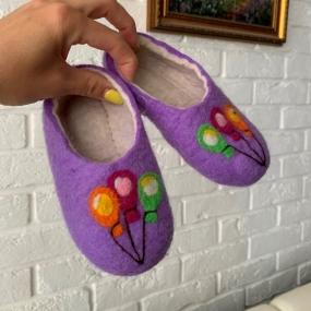 Войлочные тапочки детские