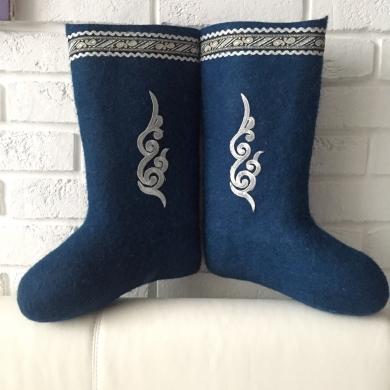 Валенки Декор синие