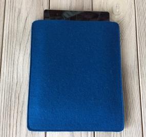 Чехол из фетра для iPad синий