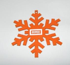 Снежинка из фетра