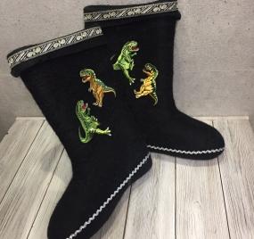 Валенки с динозаврами