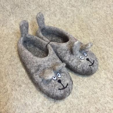 Тапочки валяные «Мыши»